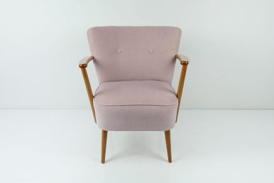 Vintage 1950's Pink Cocktail Chair retro