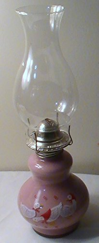 Vintage Pink Duck Oil Lamp Retro