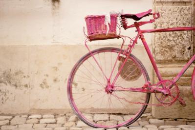 Vintage Pink Retro Bicycle