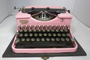 Vintage Pink Retro Royal Typewriter