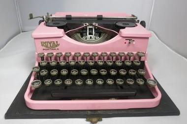 Vintage Pink Retro Royal Typewriter