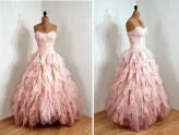 Vintage Retro pink gown