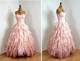 Vintage Retro pink gown