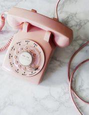 Vintage Retro pink phone