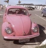 Vintage retro pink Volkswagen Bug