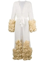 Yes Master Long Embroidered ruffled Night Gown $22142018