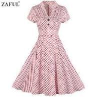 Zaful 2017 Vintage retro Pink Dress