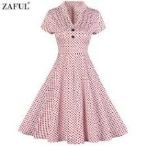 Zaful 2017 Vintage retro Pink Dress