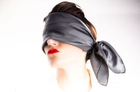 Black scarf blindfold