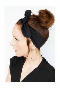 Black scarf headband