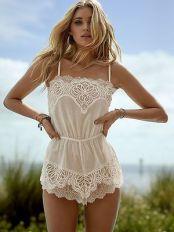 Crochet-Patterns-Romper-New-Victoria39s-Secret-Floral-Dream-Angels-Crochet-Lace-Romper-White-Lingerie