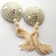 diy nipple covers Awesome Handmade pearl & satin rhinestone nipple pasties by SugarKitty