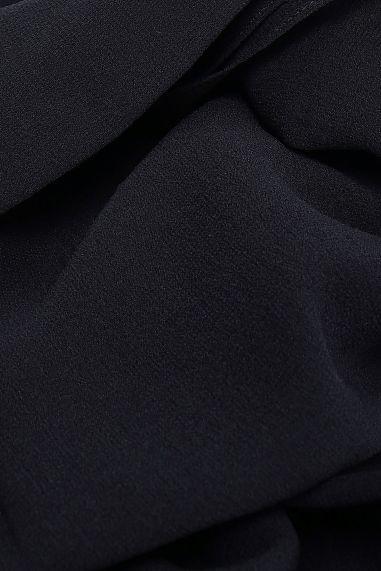 Dolce and Gabbana black silk georgette scarf 2