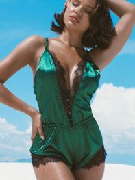 Molly Romper by Roma Lingerie Green