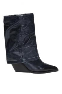 Navy and black 'D-West MB' heeled ankle boots Diesel