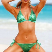 Victoria's Secret emerald green sequin bikini swimsuit