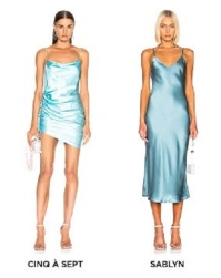Fwrd Blue Satin Dress