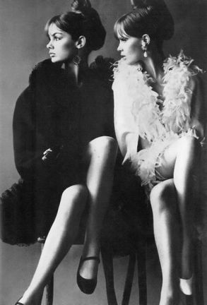 Jean Shrimpton and Celia Hammond photographed by Helmut Newton, 1966