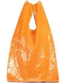 Ashish Orange Sequin Tote