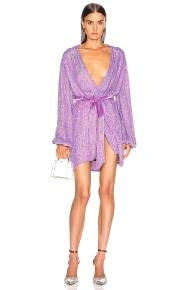 Retrofete Gabrielle Dress Lavender Metallic
