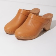 Isabel Marant Towson Nude Leather Clogs