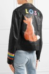 Mira Mikati Fox painted leather biker jacket $1575back