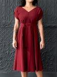 No-6-Eclipse-Trapeze-Dress-in-Raisin