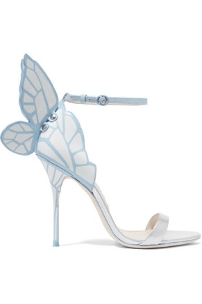 Sophia Webster Chiara Butterfly Heel blue patent
