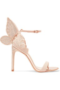 Sophia Webster Chiara Butterfly Heel pink embroidered