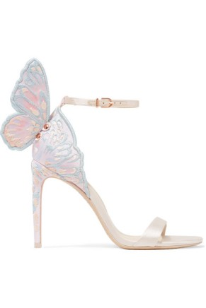 Sophia Webster Chiara Butterfly Heel satin