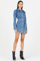 Cotton Citizen Caballo Denim Dress model