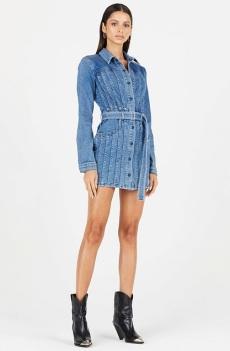Cotton Citizen Caballo Denim Dress model