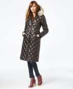 Dawn Levy Diamond and Coyote Fur down coat $550