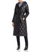 Donna Karan New York Reversible Down Puffer Coat Bloomingdales $450 front black