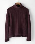 Garnet Hill Deep Burgundy Thick CashmereSweater
