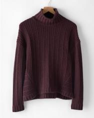 Garnet Hill Deep Burgundy Thick Cashmere Sweater