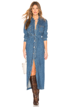 Grlfriend Denim Dress Long in GenX