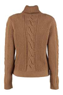 Max Mara Camel Cashmere Turtleneck Sweater