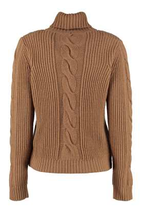 Max Mara Camel Cashmere Turtleneck Sweater