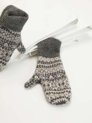 MaxMara Cashmere mittens perak grey
