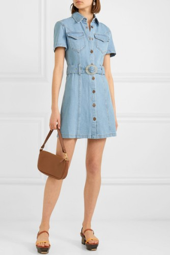 Nanushka denim dress Mora $385