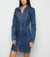 NewLook tall-blue-button-up-bodycon-denim-dress 27bpd