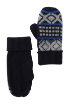 Portalano Black Snowflake Cashmere Mittens