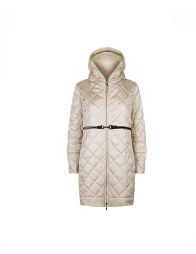 S Max Mara Enovel diamond quilted down coat ivory