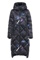 Starry night Bosideng Women Diamond Quilted Full Length Down Coat
