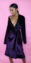 Alexandra Ngo Velvet Robe Dress Lingerie $48