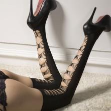 Bygoods.com Velvet lingerie thigh hi socks
