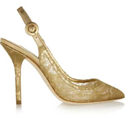 dolce and gabbana gold-lace-pumps