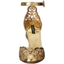 Dolce Gabanna Gold heels filigree