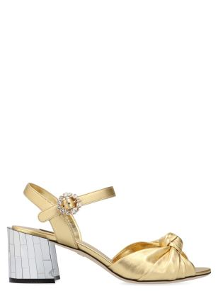 Dolce-&-Gabbana-Gold-Leather-Disco heel pumps